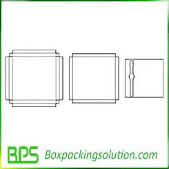 top bottom paperboard box template