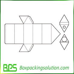 triangle insert packaging template