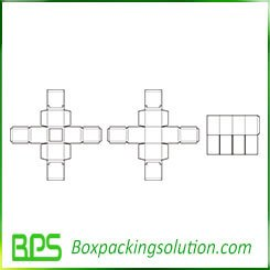 triple folding box template