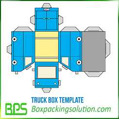truck box template truck toy for child