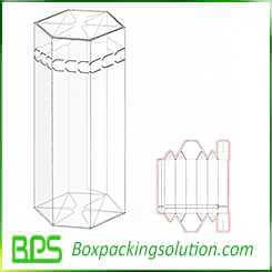 tube shape packaging boxes design template