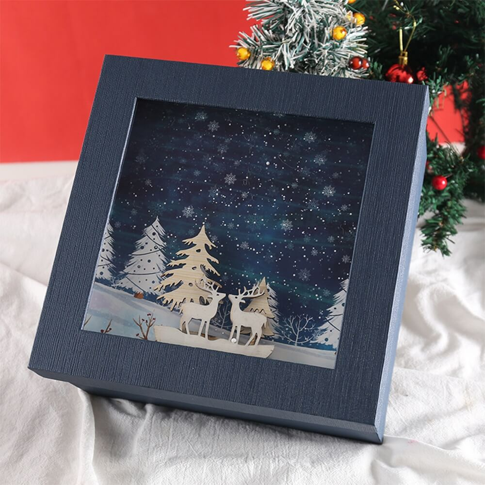 3D Effect Christmas Season Apparel Packaging Box Side View Five
