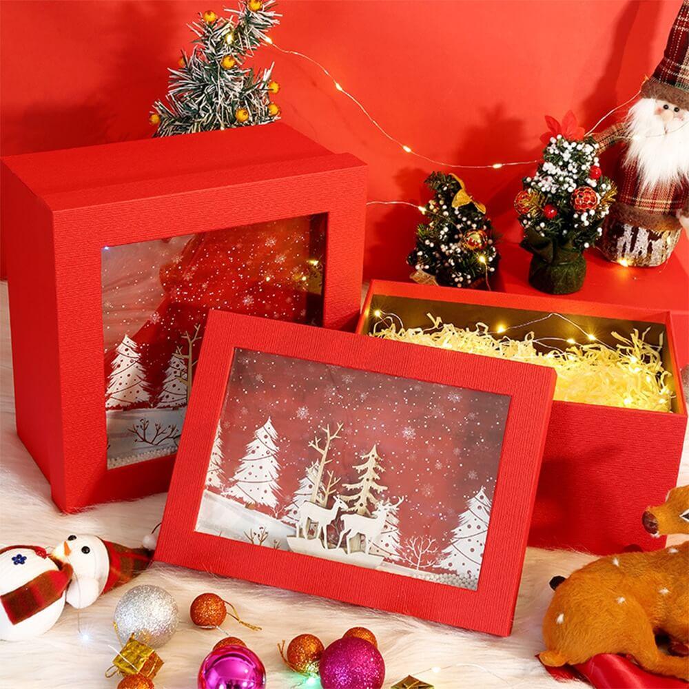 3D Effect Christmas Season Apparel Packaging Box Side View Seven