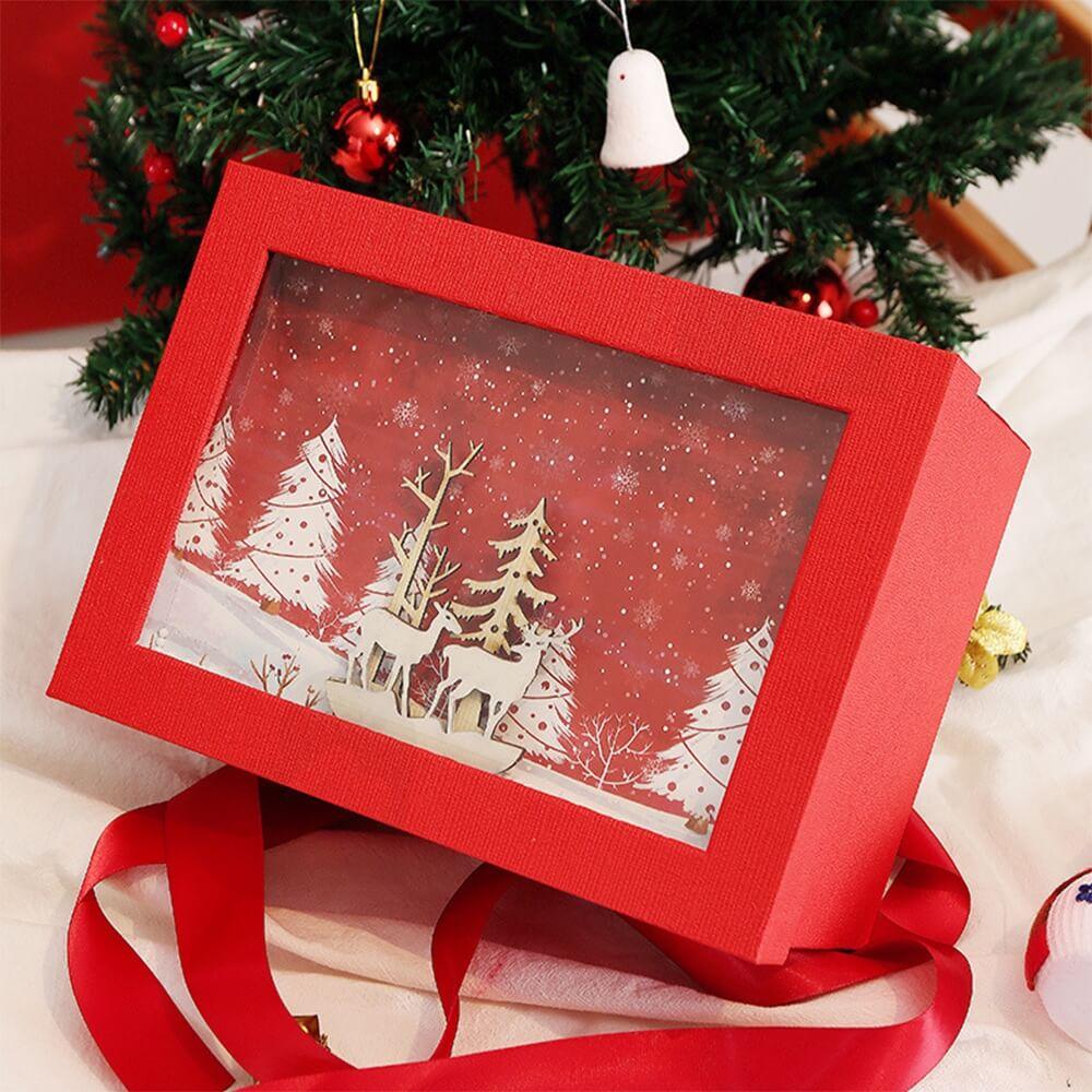 3D Effect Christmas Season Apparel Packaging Box Side View Six