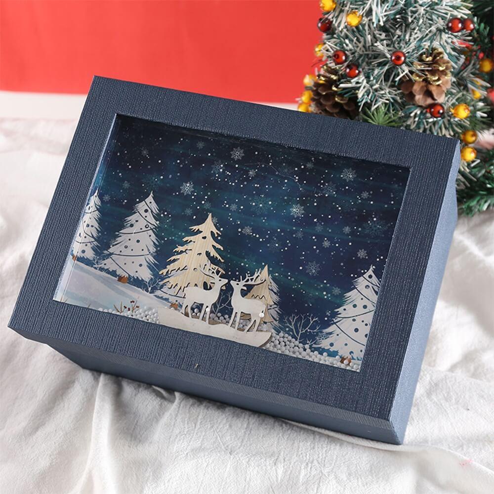 3D Effect Christmas Season Apparel Packaging Box Side View Three