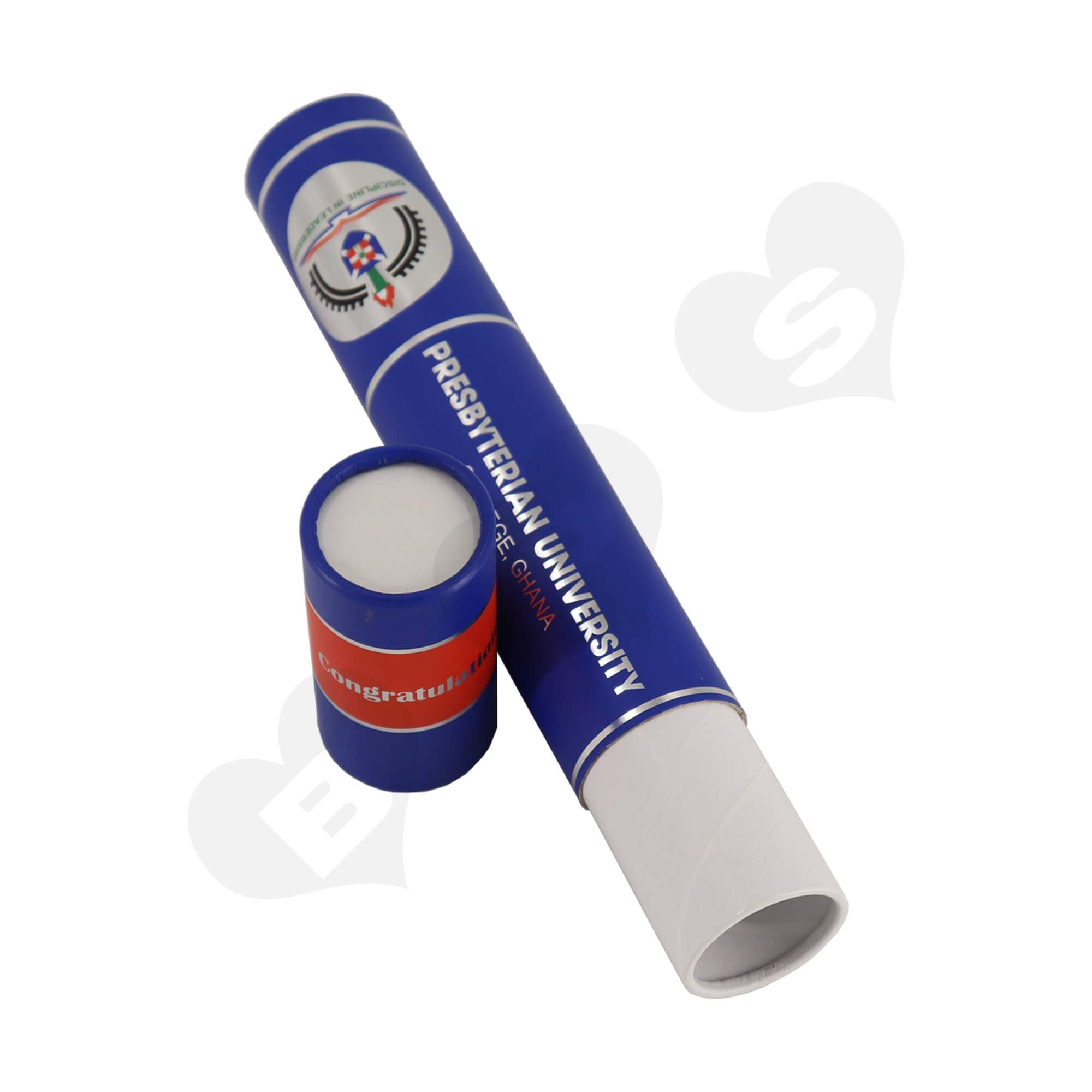 Big Size Cardboard Tube For Packing University Congratulations Gifts Side View Five