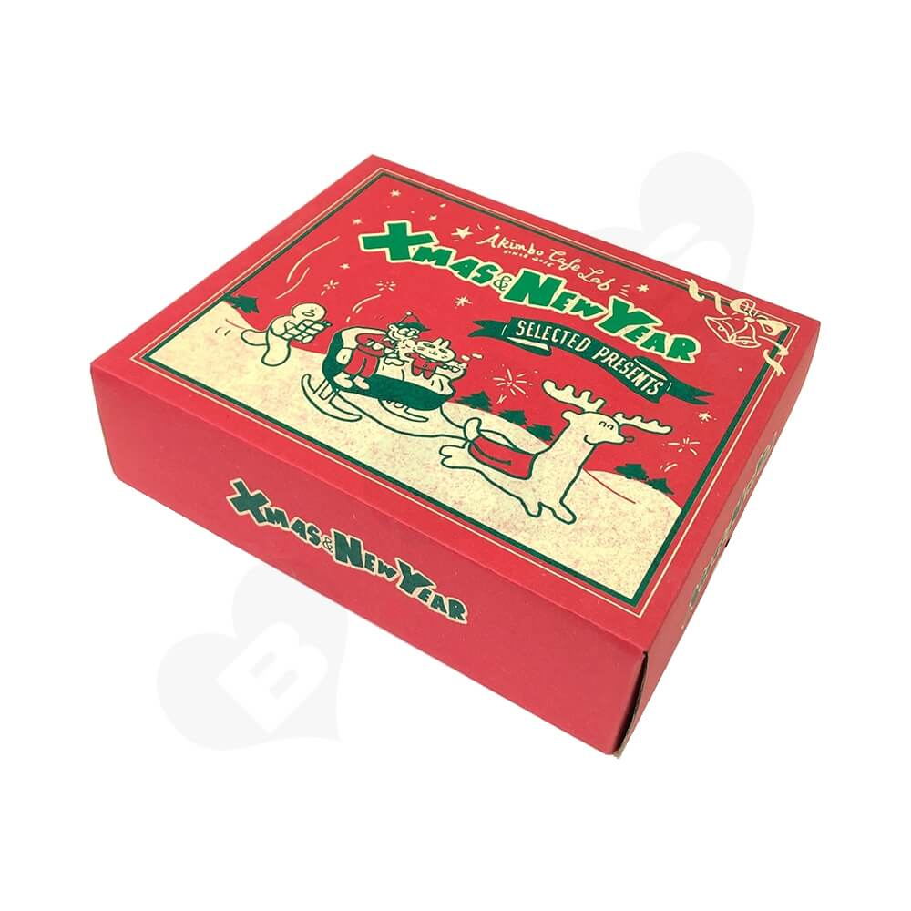 Christmas Color Printed Cardboard Gift Box Side View Four