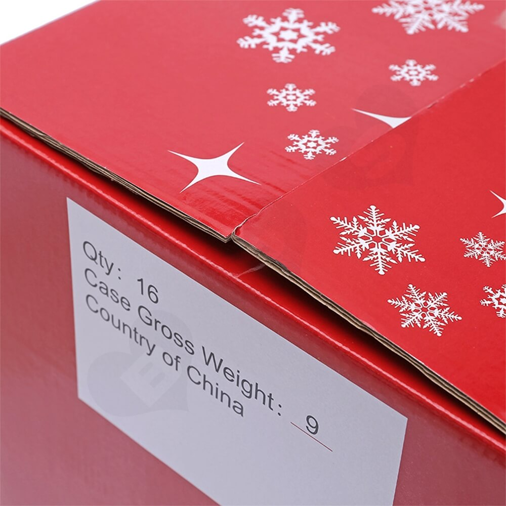 Christmas Decoration Products Shipping Box With Perforation Line Side View Four