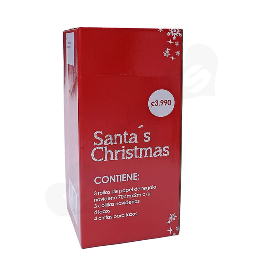 Christmas Decoration Products Shipping Box With Perforation Line Side View One