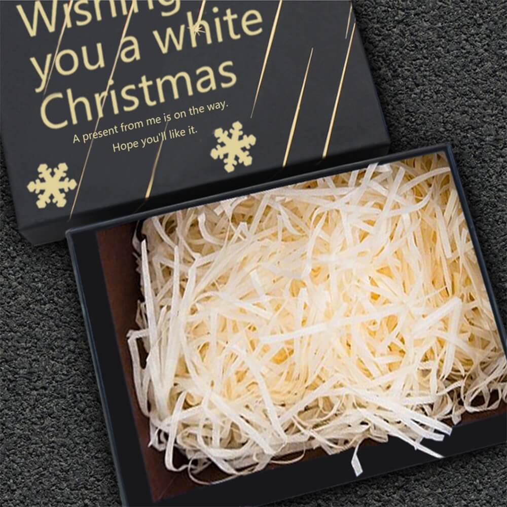 Christmas Gift Shipping Box With Gold Foil Stamping Side View Five