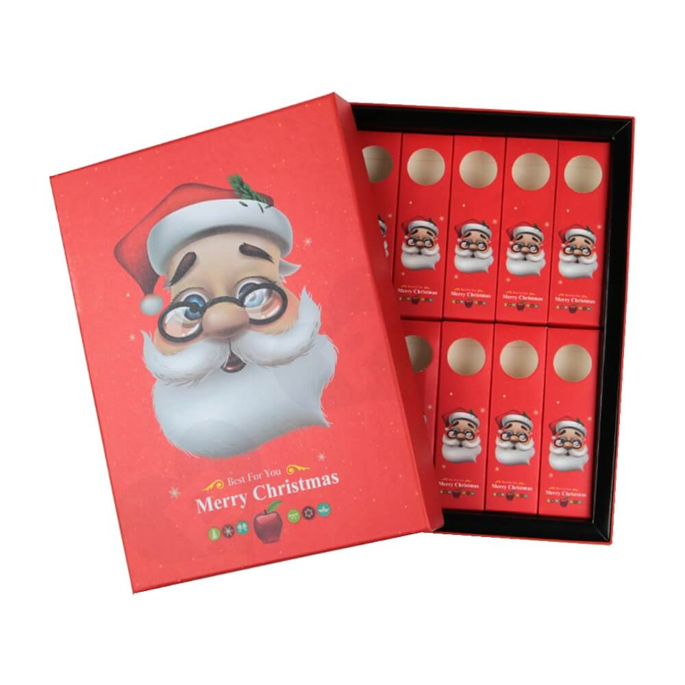 Christmas Red Color Gift Box For Lipstick Side View Three