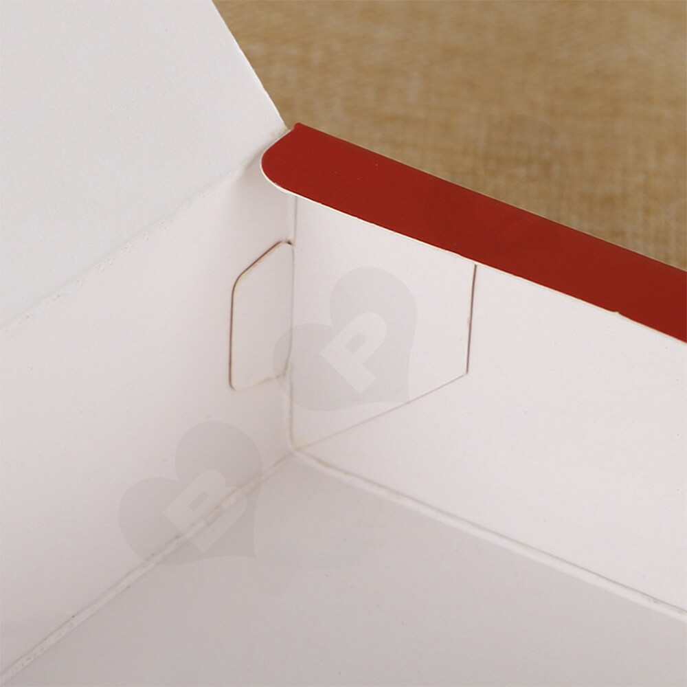 Christmas Red Color Printed Box For Gifts Side View Five