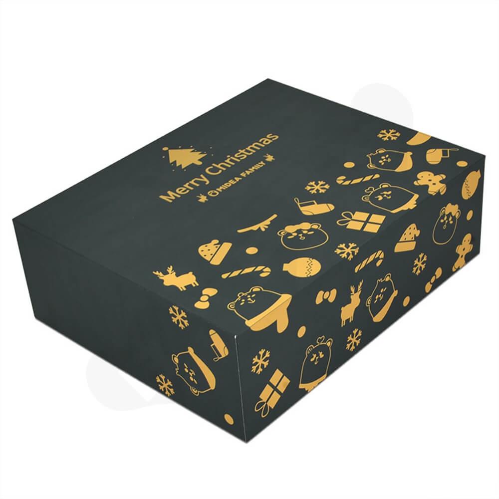 Christmas Style Printing Shoe Packaging Box Sideview One