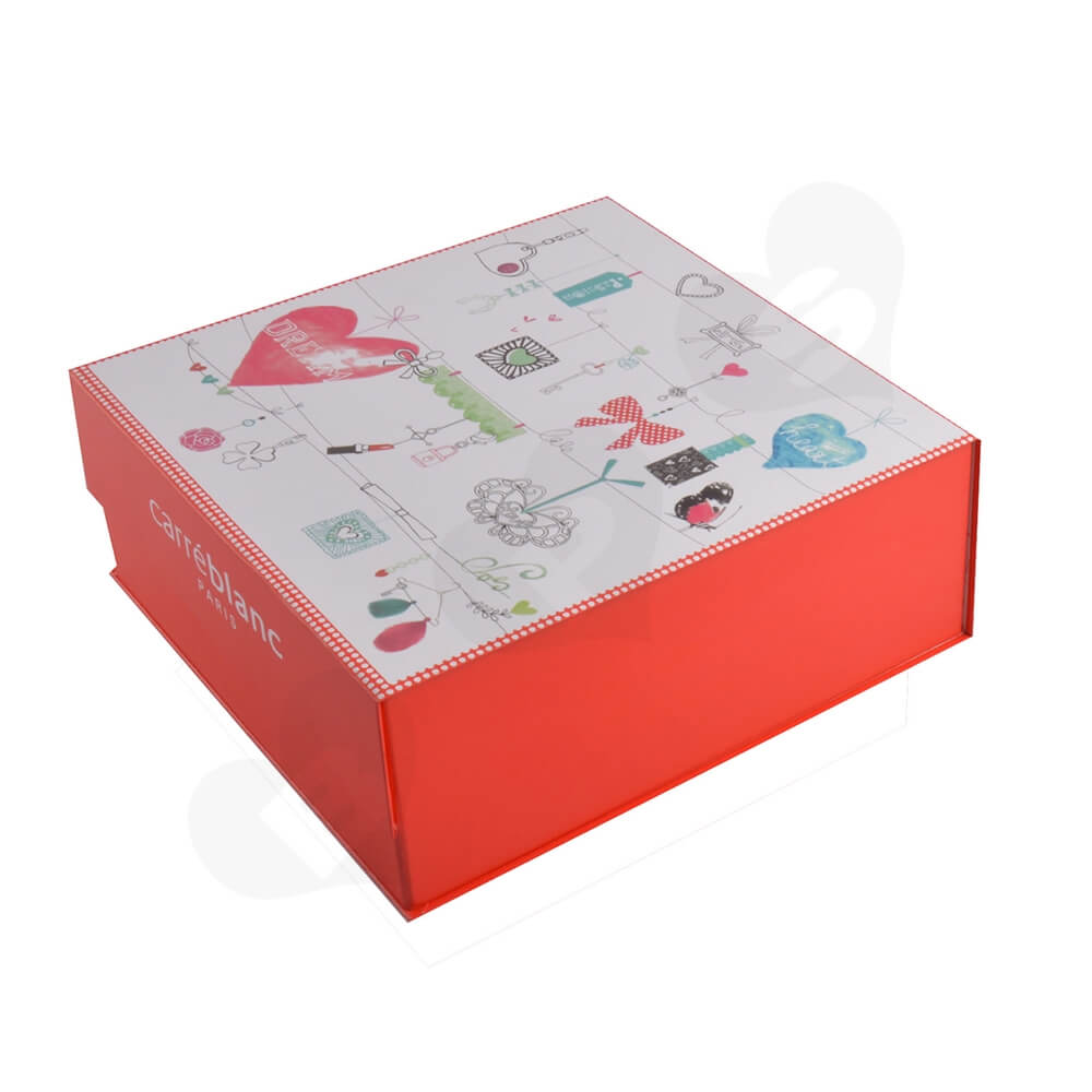 Collapsible Gift Box For Christmas Apparel Side View One