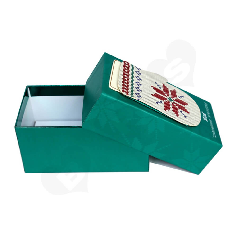 Custom Christmas Gift Box For Scented Bath Soap Side View Four
