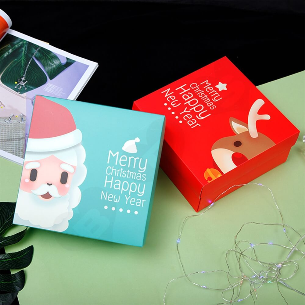 Custom Printed Folding Carton For Christmas Gift Side View Nine