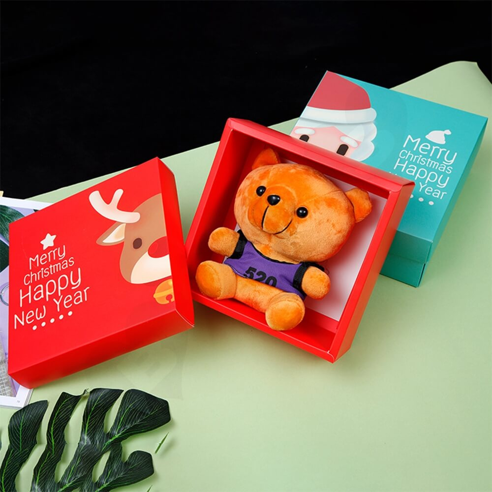 Custom Printed Folding Carton For Christmas Gift Side View Six