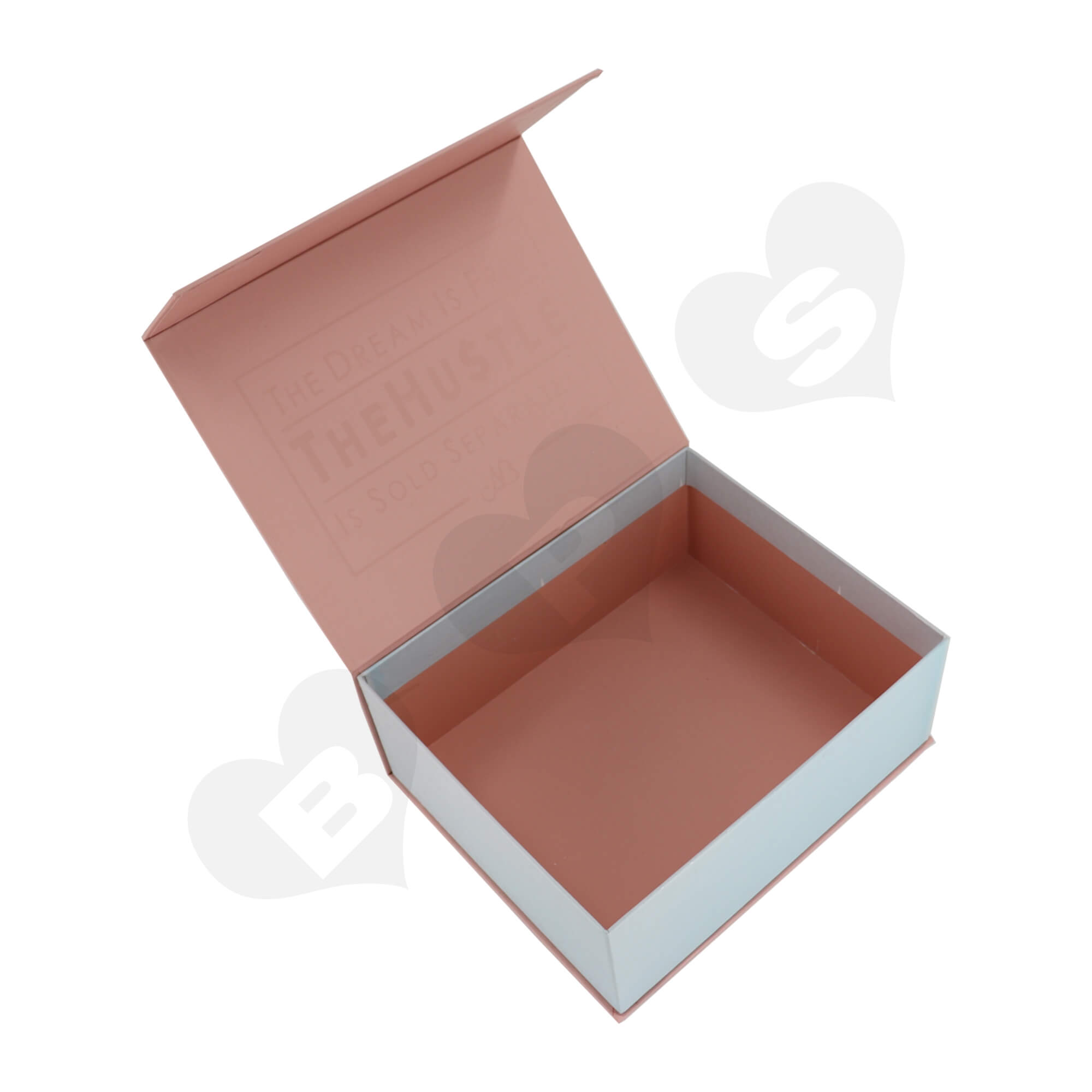 Luxury Cardboard Gift Box For Packing Cosmetic Makeup Kit Side View Five
