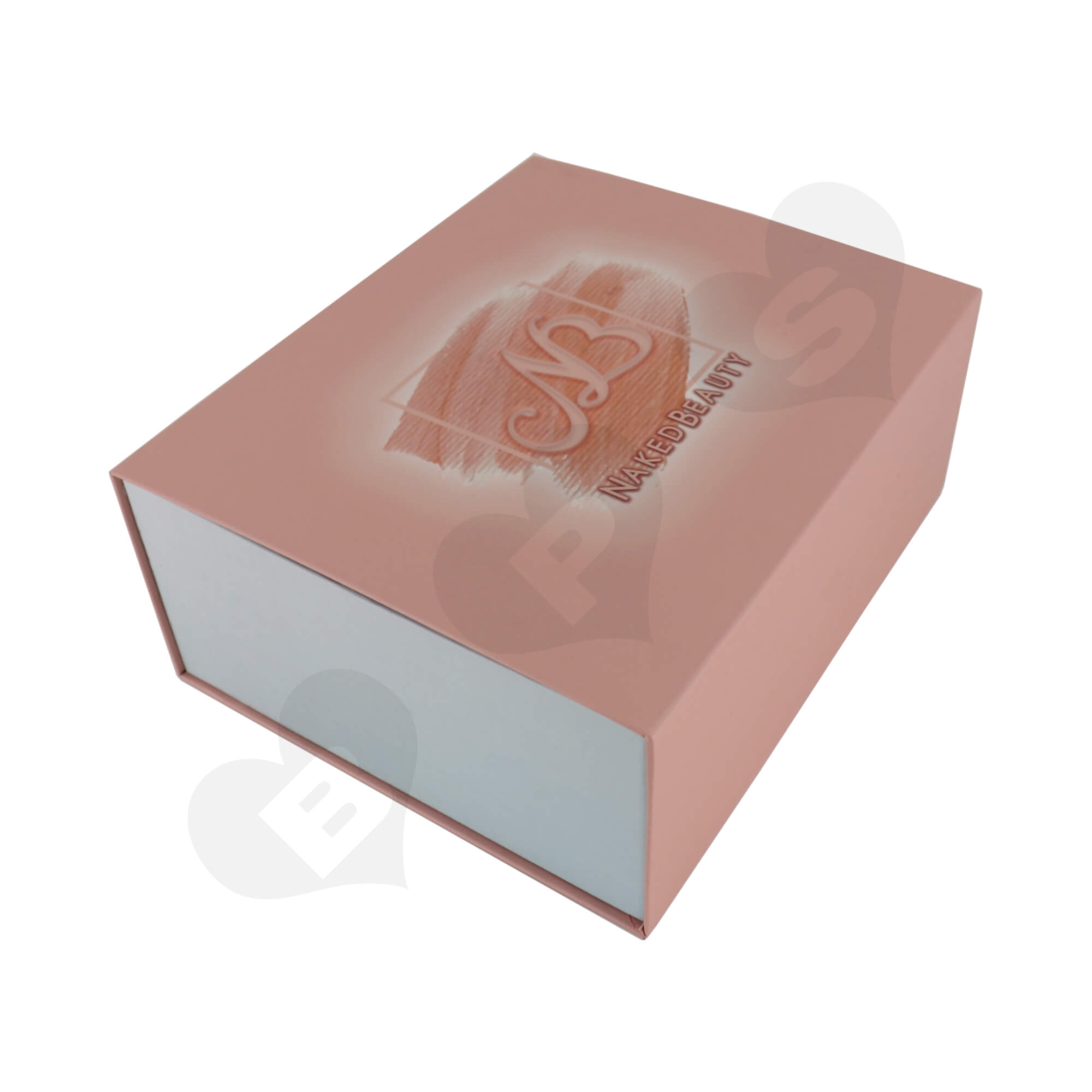 Luxury Cardboard Gift Box For Packing Cosmetic Makeup Kit Side View One