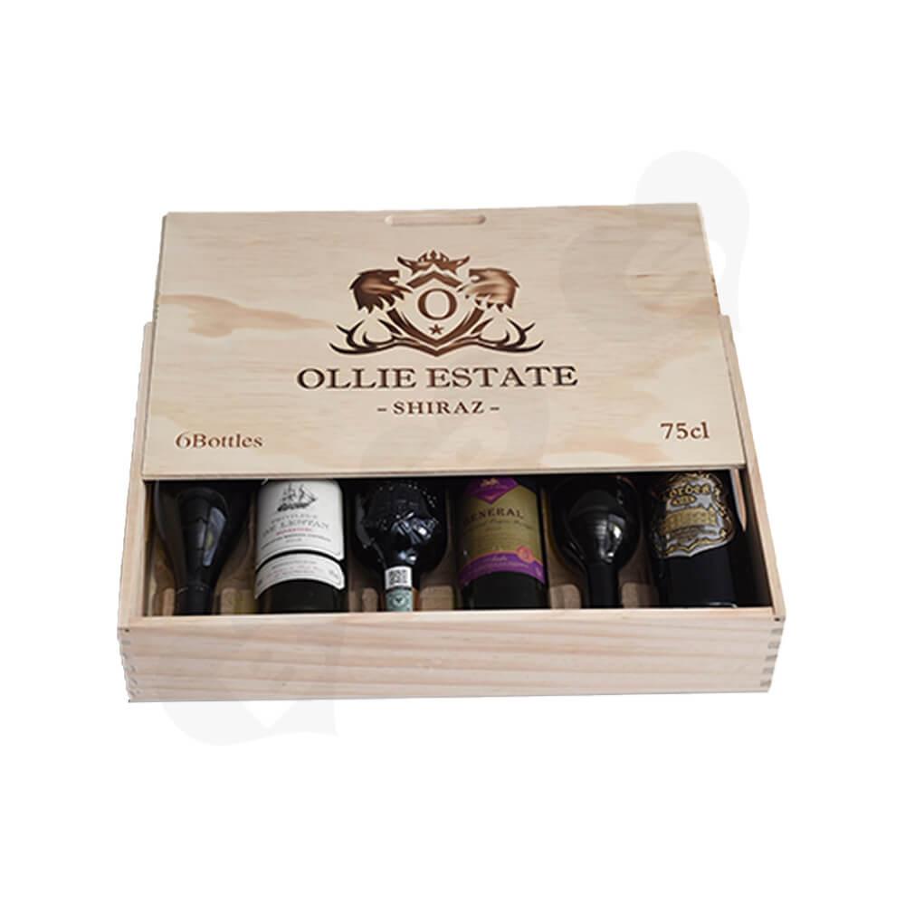 Custom Laser Printed Wine Box Side View Two