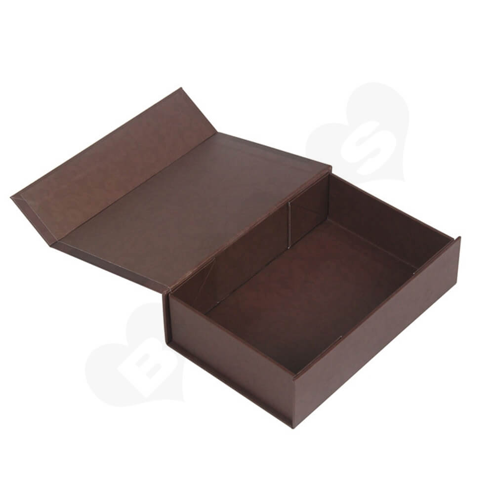 Matte Coating Collapsible Gift Box For Wine Side View Four