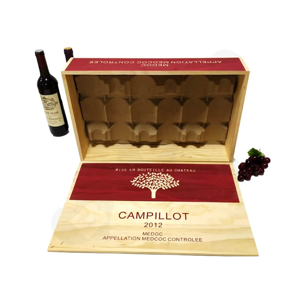 Personalizable Wine Box Six Pack Side View Four