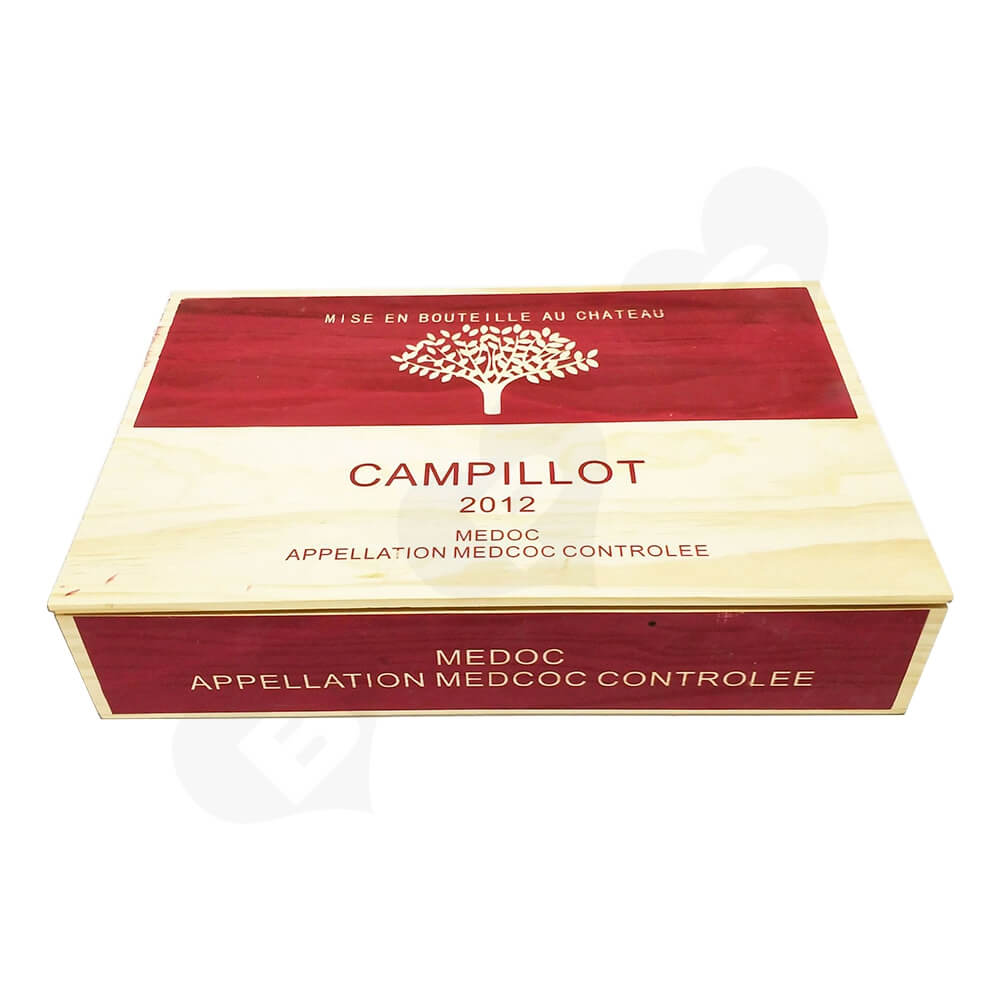 Personalizable Wine Box Six Pack Side View Three