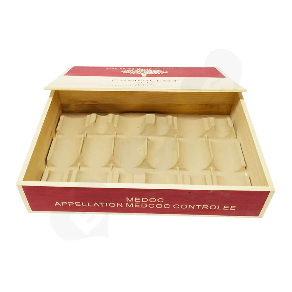 Personalizable Wine Box Six Pack Side View Two