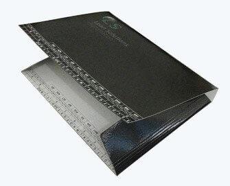 Flexible thick paper folder