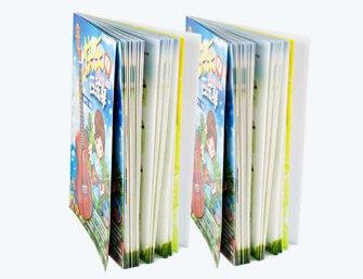 children reading book printing