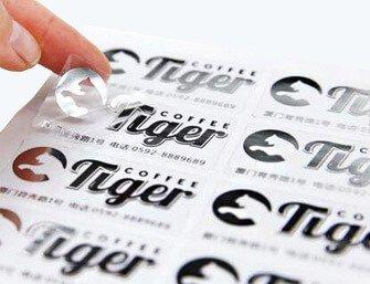 clear BOPP stickers
