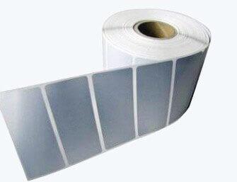 matt silver adhesive stickers