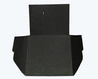 small matt black paper folder